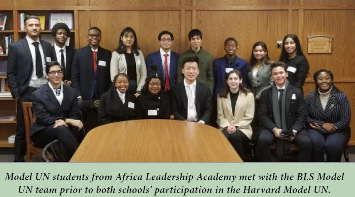 Global Issues In Focus Bls And African Leadership Academy Mun Teams Bls News